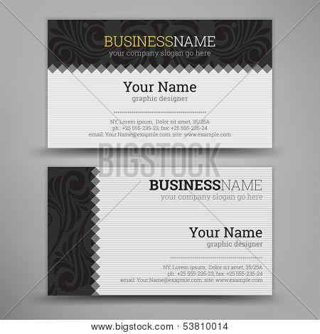 Business Card Set. Vector illustration.