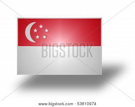 Flag Of Singapore (stylized I).