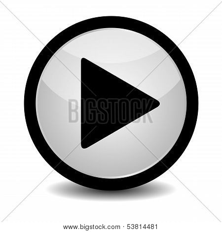 Play button - vector