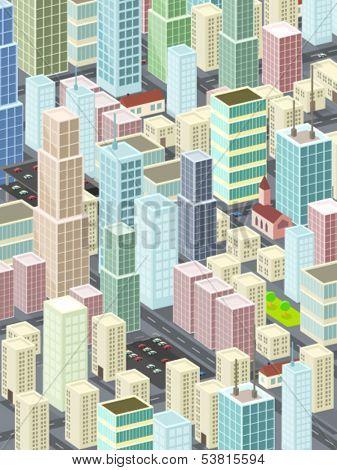 minimalistic cityscape illustration - vector
