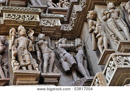 Sculptor Of Hindu Deities At Vishvanatha Temple, Khajuraho, India -unesco World Heritage Site.