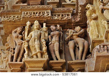 Lord Vishnu Sculptor , Khajuraho, India -   Unesco World Heritage Site.