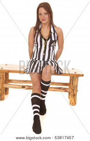 Woman Referee Sitting