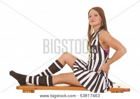 Woman Referee with Hands on Hips