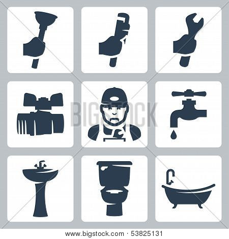 Vector Plumbing Icons Set