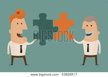 Business man connection , eps10 vector format