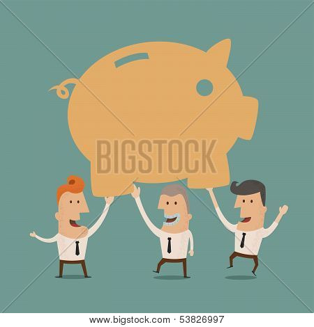 Business man save money, eps10 vector format