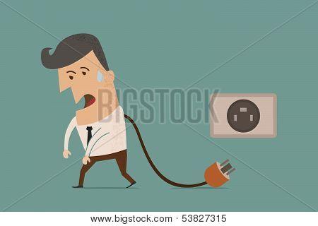 businessman unplug , eps10 vector format