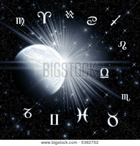 Twelve Astrology Symbols Of The Zodiac