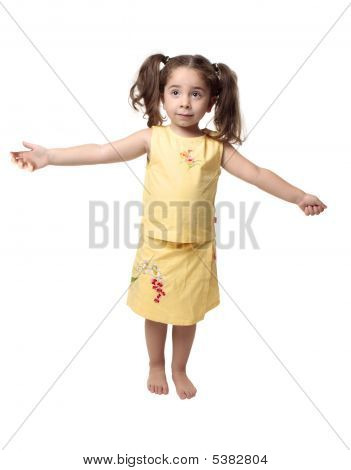 Little Girl With Arms Outstretched
