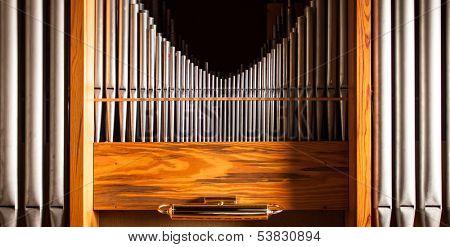 Beautiful old church organ