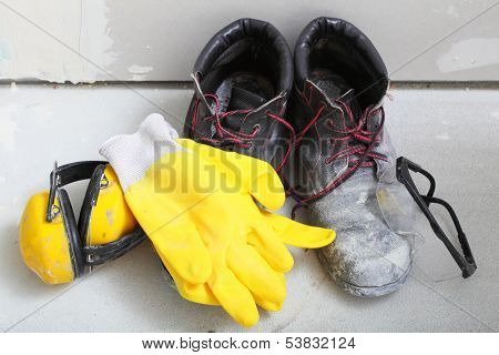 Construction Equipment Work Boots Noise Muffs