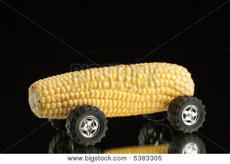 Sweet Corn Car On Mirror
