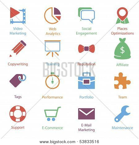 Color Internet Marketing Icons Vol 2