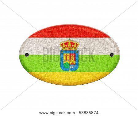 Wooden La Rioja Flag.