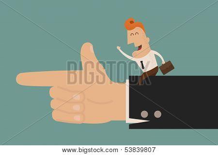 Business man go go go , eps10 vector format