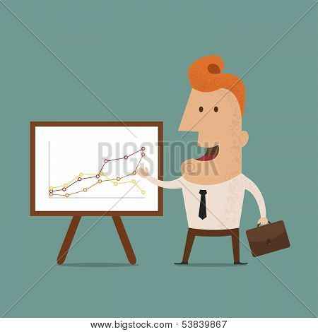 Business man making a presentation, eps10 vector format