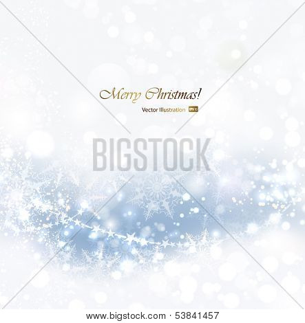 Christmas abstract soft background with snowflakes