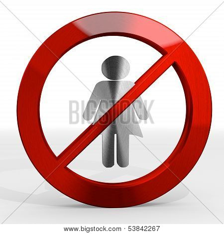 Illustration Of A Noble Woman Sign Not Allowed