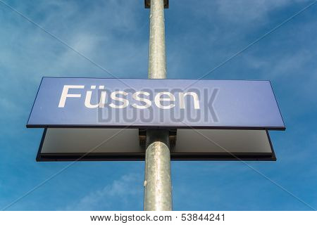 Fussen board, Bavaria, Bayern, Germany