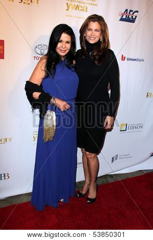 LOS ANGELES - NOV 8:  Maria Conchita Alonso, Kathy Ireland at the YWCA Greater Los Angeles Annual Rhapsody Ball at Beverly Hills Hotel on November 8, 2013 in Beverly Hills, CA