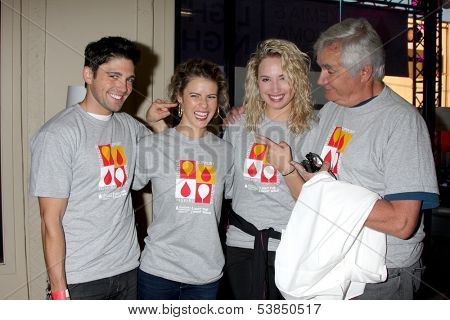 LOS ANGELES - OCT 6:  Robert Adamson, Linsey Godfrey, Molly McCook, John McCook at the Light The Night The Walk to benefit LLS at Sunset-Gower Studios on October 6, 2013 in Los Angeles, CA