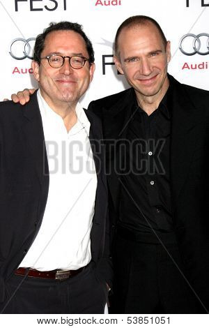LOS ANGELES - NOV 11:  Michael Barker, Ralph Fiennes at the