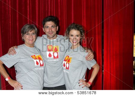 LOS ANGELES - OCT 6:  Char Griggs, Robert Adamson, Linsey Godfrey at the Light The Night The Walk to benefit the Leukemia-Lymphoma Society at Sunset-Gower Studios on October 6, 2013 in Los Angeles, CA