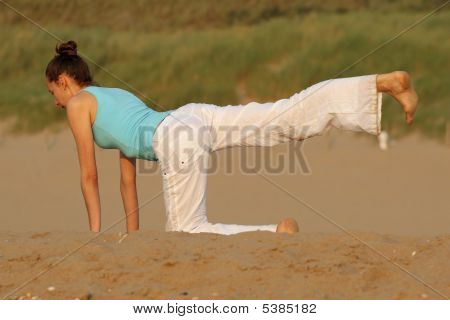 Yoga In Sand