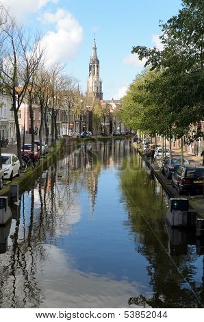 City Canal In Holland