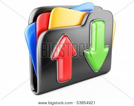 Download - Upload Folder 3D Icon.