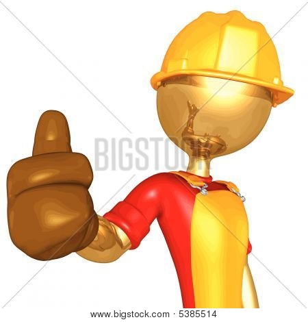 3D Vector Construction Worker