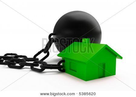 Grilhões e casa verde