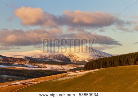 Ben Rinnes with snow