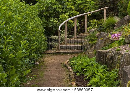 Elgin, stairs to rock garden