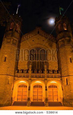 Bonython Hall And The Moon (front)
