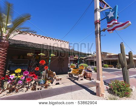 A Shot Of The Old Town Boutiques, Scottsdale, Arizona