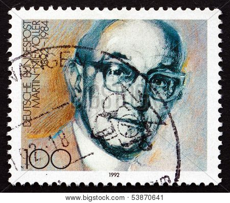 Postage Stamp Germany 1992 Martin Niemoller, Theologian