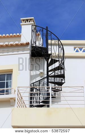 Swirl Iron Staircase