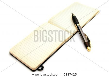 Pen With Open Notebook
