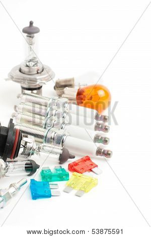 Electric auto parts background