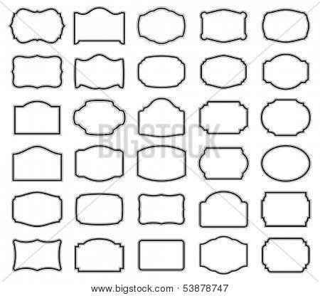Thirty blank vector labels (you can easily adjust dimensions, as paths are not expanded)