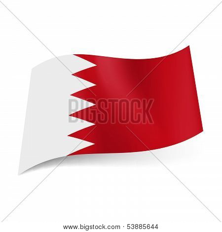 State flag of Bahrain.