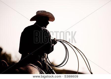 Silhueta de Rodeo Cowboy