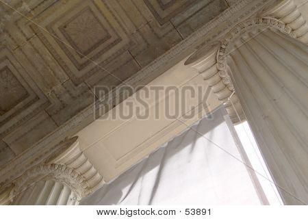 Looking Up At Roman Columns