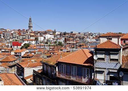 Clerigos Tower and Porto Old City