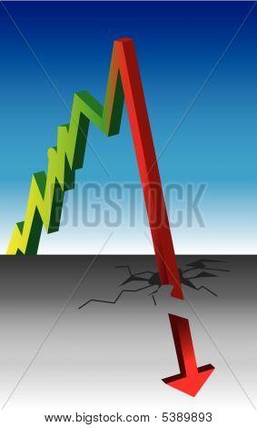Graph On Blue Crash