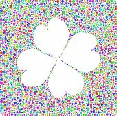 Four leaf clover into a square sign