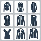 stock photo of jacket  - Vector women - JPG