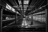 image of fire-station  - A Old Abandoned Industrial Interior Bright Light - JPG